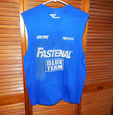 Carl Edwards Roush Fenway Racing NASCAR Blue Muscle T-Shirt-Fastenal Blue Team