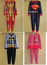 Kids Party Costume Batman/Iron man/Superman/Minnie Boys Girls Pajamas 1.5Y-11Y