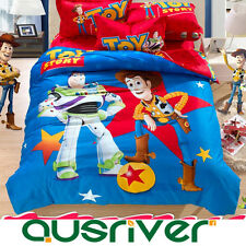 Cotton Toy Cartoon Kids Single/Double/Queen King Size Bed Quilt/Doona Cover Set