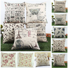 45x45cm Classic European Cotton Linen Cushion Cover Throw Pillow Case Home Decor