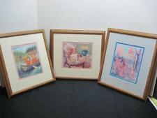 Wood Framed & Matted Teddy Bears Baby Nursery Art Prints Pictures 14.75 X 13.5