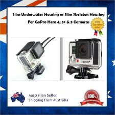 GoPro Hero 4 / 3+ / 3 Slim Underwater Housing Case or Skeleton USB HDMI Hardcase