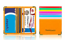 Unisex Travel Card Holder Leather Wallet Case Cover For Rail Bus Freedom Pass