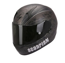 Scorpion Motorcycle Helmet Exo-410 Air Lower World Silver Decor With Skull