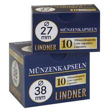 50 Lindner Coin Capsules (5 Packs) - Selection - Assorted Sizes Up To 34mm New