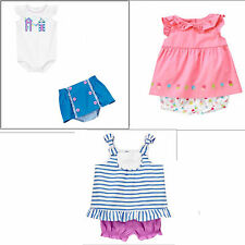 Gymboree Hippos & Bows or Ice Cream Sweetie Bloomer Sets-0 3 6 NWT