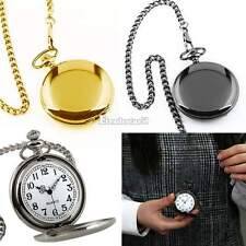 NEW  GIFT MENS CLASSIC STAINLESS STEEL MAN'S COPPER MEN'S CHAIN POCKET WATCH