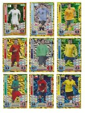 Match Attax England 2014 World Cup Trading Cards Individual 'Star Player' Cards