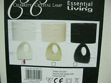 BRAND NEW CELEBRITY CRYSTAL TABLE LAMPS 2 COLOURS CREME/STONE