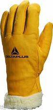 Delta Plus Venitex FBF15 Mens Fur Lined Leather Winter Thermal Ski Work Gloves