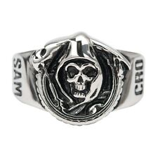 BAGUE OFFICIELLE SONS OF ANARCHY  SAM CRO SAMCRO TAILLE 9,10,11,12,13,14