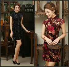 Elegant MINI Dress traditional Cheongsam charming Fashion Chinese women's