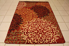 up to 8x10 NO 3 MODERN ABSTRACT AREA RUG CARPET GRAY BLACK BURGUNDY BEIGE GREEN