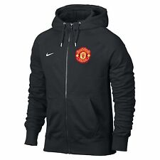 NIKE MANCHESTER UNITED AUTHENTIC FZ HOODY 2013/14 BARCLAYS EPL BLACK.