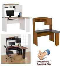 L-Shaped Workstation Laptop Computer Corner Desk Home Office Student Furniture