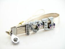 Personalized Custom Name Cellphone Purse Dangle Strap Rhinestone Letter & Charm