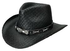 NEW JACK DANIEL'S Toyo Straw Shapeable Western Cowboy Hat JD03-705 Black USA