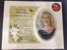 "10"" X 8"" MEMORY PHOTO MOUNTS WITH VERSE - MUM, DAD, GRANDMA, GRANDAD ETC"