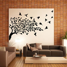 Vinilo pared decorativo Arbol pájaros - naturaleza Wall stickers