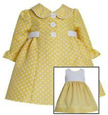 Bonnie Jean Girls Yellow Dot Dress with Jacket Infant & Toddler