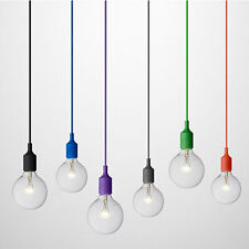 Light Fittings E27 lamp holder 1M hanging wire Colorful E27 lampholders 270