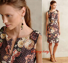 NEW 2 4 6 Anthropologie Quilted Tema Dress by Tabitha Gorgeous Feminine $158 NIP