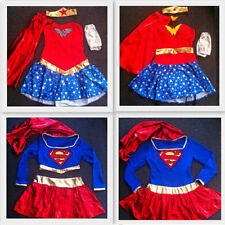 womens ladies fancy dress costumes Wonder Woman Super girl sizes 6-16