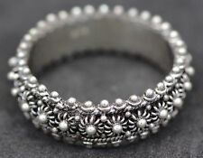 Handmade Sterling Silver .925  Bali Filigree Flower Band/Promise. Many Sizes.