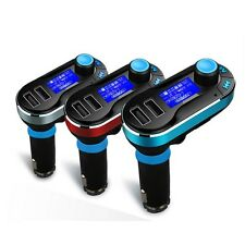 3 Color Bluetooth Car Kit MP3 Player FM Transmitter SD LCD Dual USB Charger New