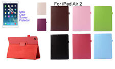 Screen Protector/Flip PU Leather cover case for Apple New iPad Air 2