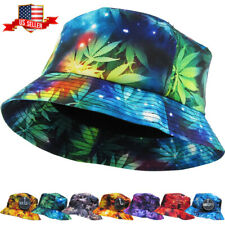 Galaxy Marijuana Bucket Hat Boonie Cap Outdoor Cap Unisex 100% Cotton NEW
