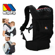 Molto ERGONOMIC COMFORT BABY CARRIER Infant Backpack Sling Wrap - Black
