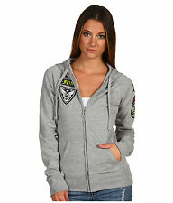 Fox Womens Moto Doll Foxy Zip hoody Heather Grey