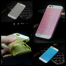 Glitter Sparkly Bling Soft Gel Rubber Case Cover Skin for iPhone 5 5S 6 & 6 Plus
