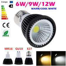 Bombillas MR16 GU10 E27 6W 9W 12W LED COB Spot Light Ceiling Lamp No Dimmable