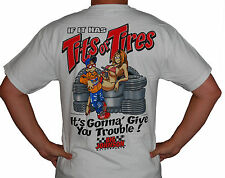 Big Johnson Tits or Tires Vintage Funny Retro Shirt