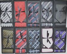 NEW 100% Silk  Men tie set Necktie + Cufflinks + Hanky with matching gift box!