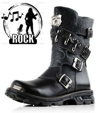 2015 Sreet TOP Rock PUNK COOL# Men's Fashion Motorcycle Army Boot PU leather+5A+