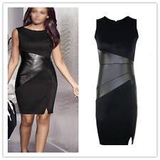 Sexy Women Black fit Bodycon Sleeveless Work Party Evening Cocktail Mini Dress G