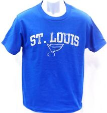St. Louis Blues Hockey NHL Short Sleeve Distressed T-Shirt Blue