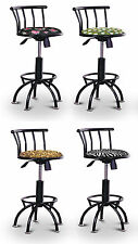 FC30 BLACK METAL SWIVEL THEMED SEAT ADJUSTABLE 24 29 INCH BAR STOOLS KITCHEN