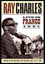 Ray Charles live in France, Movie poster advert  Poster reproduction.