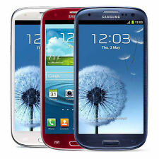 Samsung Galaxy S3 III SGH-I747 Smartphone 16GB AT&T White Red Blue UNLOCKED S3