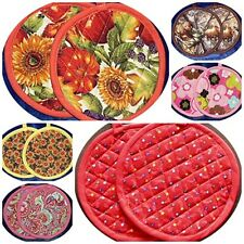 Quilted Insulated Round Potholders to Match Small Appliance Covers Made to Order