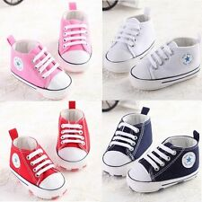 Baby Shoes Lovely Soft Sneakers Boys Girls Infant Toddler 3 Size 0-18 months #BU
