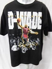 Miami Heat Basketball Dwyane Wade Short Sleeve Black T-Shirt