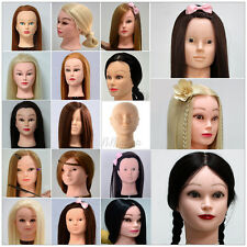 Long Hair Training Head Cosmetology Hairdressing Salon Manikin + Table Clamp New