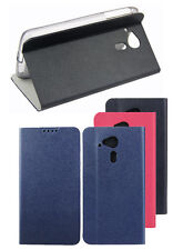 PU Leather Stand Case Flip Cover + Screen Protector for Acer Liquid Phone