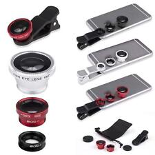 3 in 1 180°Fish Eye Lens + Wide Angle + Micro Lens for Iphone 6/5s Samsung BG