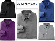 Mens Shirt ARROW Designer TAILORED FITTED Wrinkle Free LONG SLEEVE